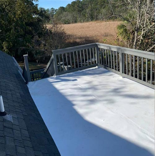 best roofer savannah just finished this roof in Richmond Hill GA Coastal Roofing & Restorarion.